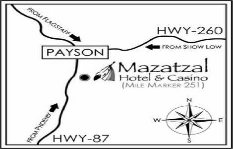 Mazatzal Hotel and Casino Map