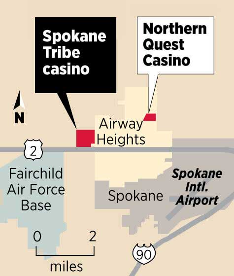 Spokane Tribe Casino Map