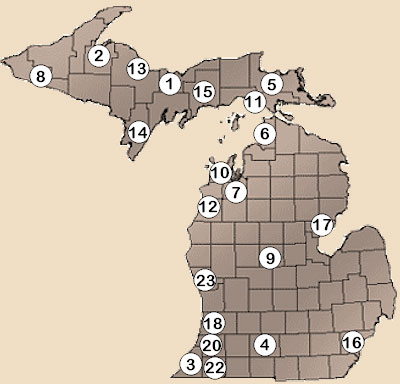 Michigan Casinos Map