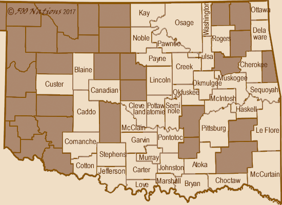Oklahoma Casino Map
