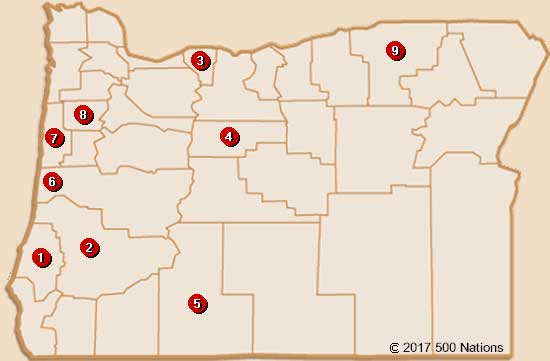 Oregon Casino Map